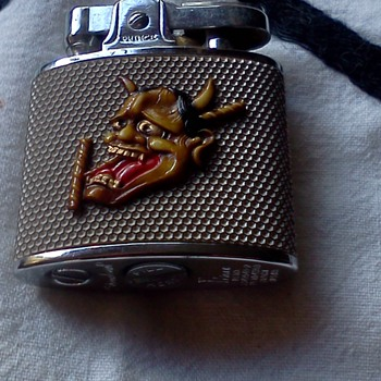 Cigarette lighter with Japanese Demon