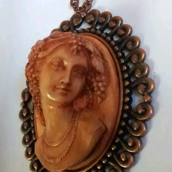 One of My Favorites, Cameo Pin Plastic? - Costume Jewelry