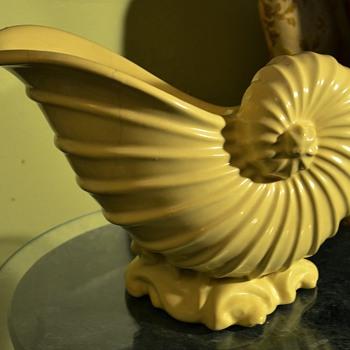 Victorian Pottery Cornucopia