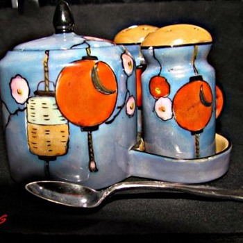 My beautiful Art Deco Noritaki Condiment Set - China and Dinnerware
