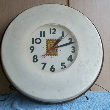 Got this clock today,needs a little work