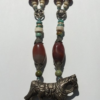 Turqouise Coral horse pendant necklace. Navajo? Info help please!