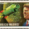 "1974 - Maldives ""J.F. Kennedy / Apollo"" Postage Stamp"