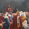 Jesus oil painting 7.5 feet by 5 feet