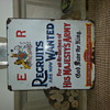 Original Sheet Metal British Army Recruitnent Sign
