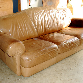 goodwill leather couch - Furniture