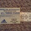 Pair of 9/11/01 NY Yankee Tickets