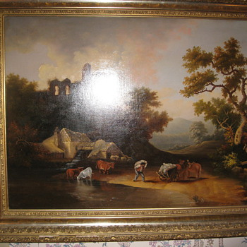 Antique Hudson River Painting Unknown Artist