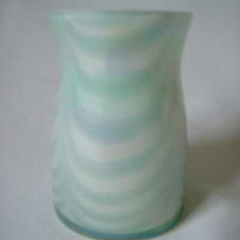 Iridescent Vase with 'Swags'