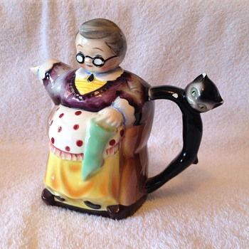 creamer old lady n cat - Figurines