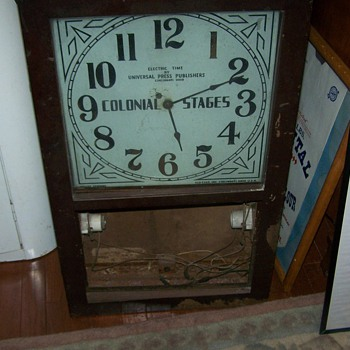 Univseral Press Publishers Clock Cincinnati Ohio Colonial Stages Glo Clox Inc