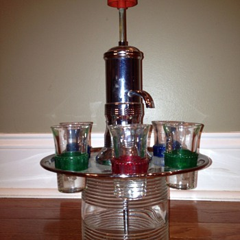 Vintage shot dispenser  - Glassware