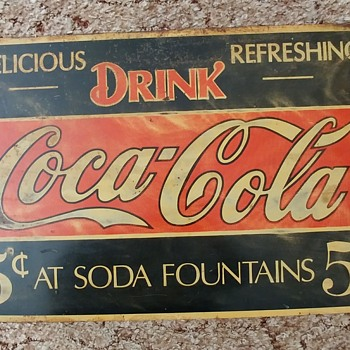 My fisrt ever Coke Sign is a Beauty and i cant find any like it... - Coca-Cola