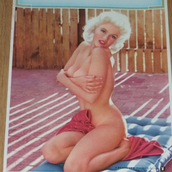 1963 Playboy &quot;Jane Mansfield&quot; Salesmen Print