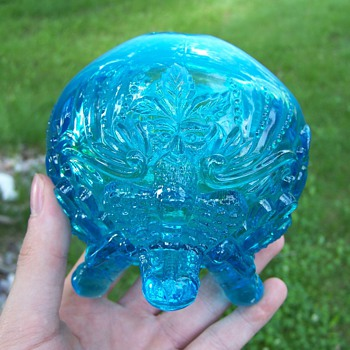 Sowerby Glass Piasa Bird Rose Bowl
