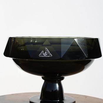 Hoffmann centre-piece bowl - Art Glass