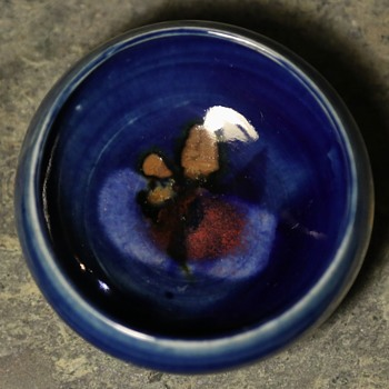 Small Blue-Glazed Bowl - Pottery