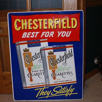 Chesterfield Cigarettes Sign - Signs