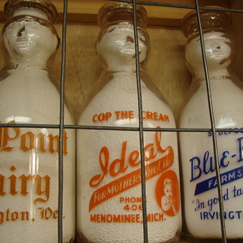 Ideal Dairy (Menominee Mich) Used BOTH a Cop The Cream & Baby Top Version................