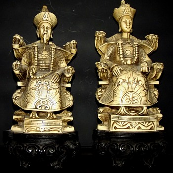 Five Resin Figures, Same Mark - Asian