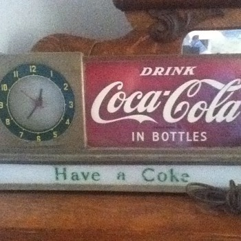 Price Brothers Coke Counter Clock