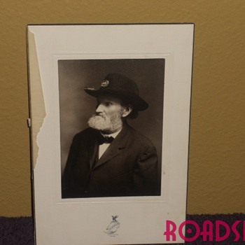 A Civil War  photo found in a file containing family records. - Photographs