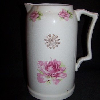 pink rose pottery-can't identify backstamp