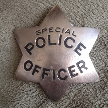 Antique Ed Jones Special Police Officer Badge Circa 1910