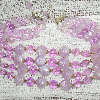 Purple Plastic Necklace