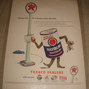 Texaco Havoline Motor Oil Magazine Ad - Advertising
