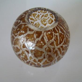 Hirschberg Glashutte ball vase