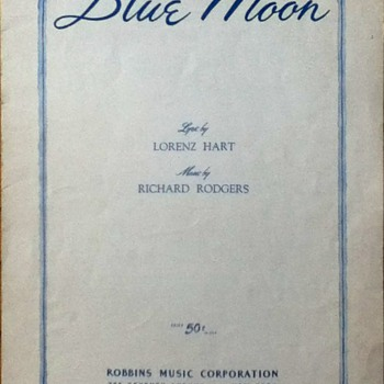 """Blue Moon"" Sheet Music"