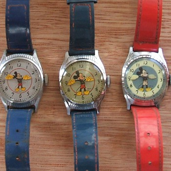 1948-49 Birthday Series Mickey Mouse Wristwatches - Wristwatches