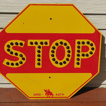 Orchard Place Airfield Stop Sign (Pre-O&#039;Hare Airport) - Signs