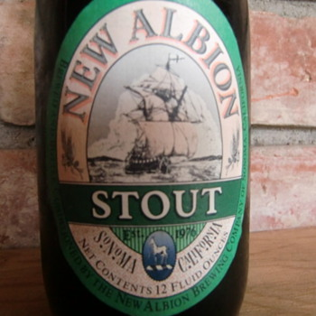 (Original) New Albion Stout 1980's Any Beer Lovers Out There? - Breweriana