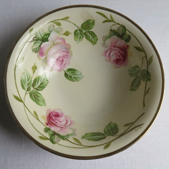 Prussia Handpainted Bowl Signed B-------?