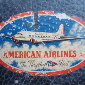 American Air Lines Suitcase - Advertising