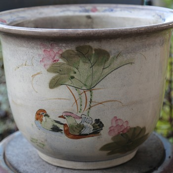 Very old Chinese Flower Pot
