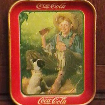 Original 1931 Huck Finn Coca-Cola Serving Tray - Coca-Cola