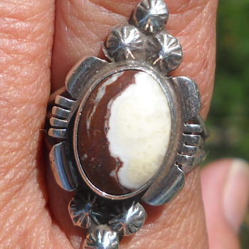 White Horse Magnesite Native American ring