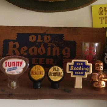 Old Reading & Sunshine Tap Handles - Breweriana