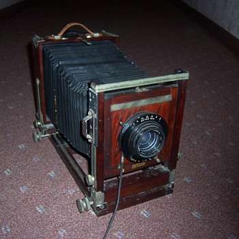 Large Old Antique Wood Camera