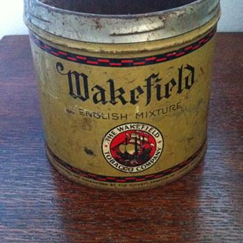 Wakefield tobacco tin. - Tobacciana