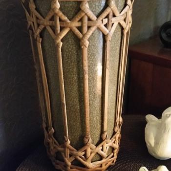 Rattan weave vase