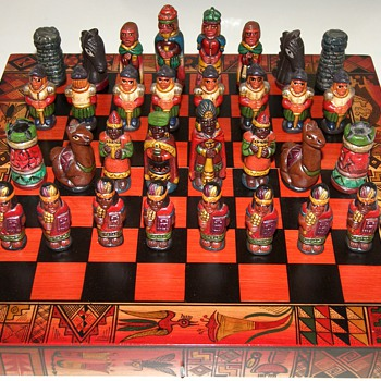 Colorful Peruvian Chess Set