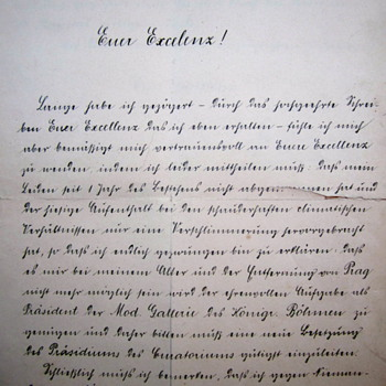Jan Nepomuk Graf von Harrach letter, additional photos - Paper