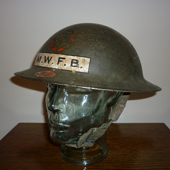 WWII British Fire Brigade steel helmet.  - Military and Wartime