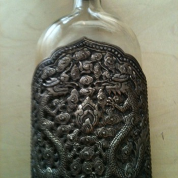 Help with a silver/glass flask I picked up at a garage sale