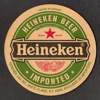 """Heineken"" - Beer Coaster"