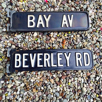 1950s Brooklyn, N.Y. porcelain street signs